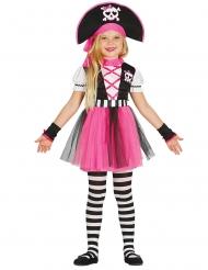 Costume pirata rosa bambina