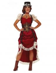 Costume steampunk sexy rosso donna