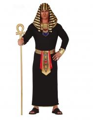 Costume faraone nero e oro uomo