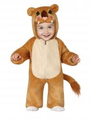 Costume da leoncino peluche per bebè
