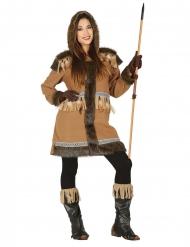 Costume da eschimese marrone per donna