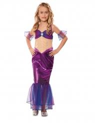 Costume da sirena viola per bambina