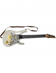 Chitarra elettrica bianca