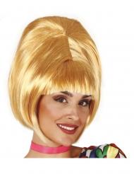 Parrucca bionda stile anni 60 per adulti