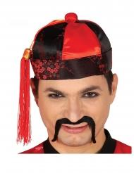 Cappello da cinese rosso e nero