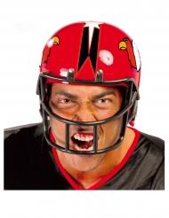 Casco da giocatore di football rosso adulto