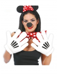 Guanti mani giganti bianche per adulto