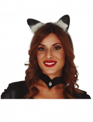 Cerchietto con orecchie da gatto per adulto