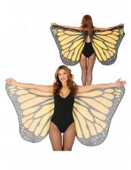 Ali giganti da farfalla arancioni 170 x 80 cm adulto