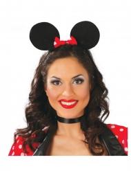 Cerchietto orecchie da topo per donna