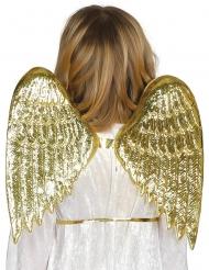 Ali da angelo dorate per bambino