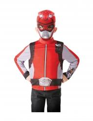 Maglietta e maschera rossa Power Rangers per bambino