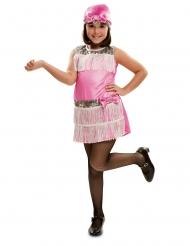 Costume charleston con copricapo per bambina