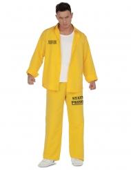 Costume giallo da prigioniero per uomo