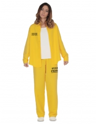 Costume giallo da detenuta da donna