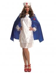 Costume da infermiera con mantello e copricapo per donna