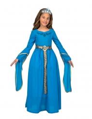 Costume principessa medievale con diadema bambina