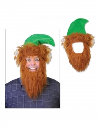 Cappello da leprecauno con barba adulto