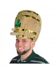 Cappello boccale di birra con trifoglio San patrizio adulto