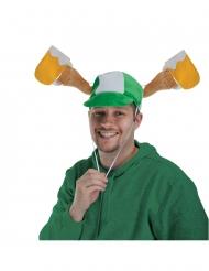Cappello con mani e pinte di birra per adulto