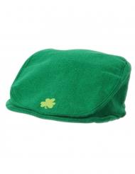 Berretto verde con trifoglio adulto