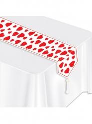 Runner da tavola con cuori rossi San valentino