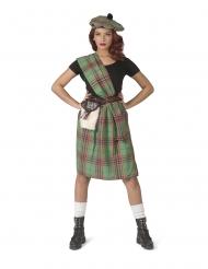 Costume verde da scozzese per donna