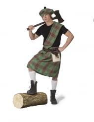 Costume verde da scozzese per uomo