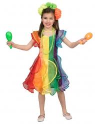 costume da ballerina arcobaleno per bambina