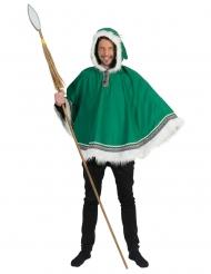 Poncho eschimese verde per uomo
