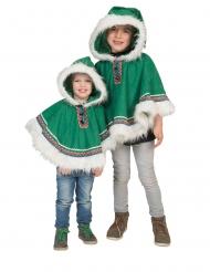 Poncho verde da eschimese per bambino