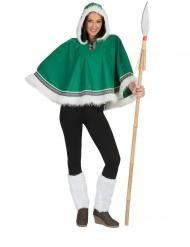 Poncho verde da eschimese per donna