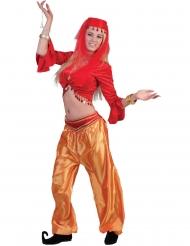 Top rosso da ballerina orientale per donna