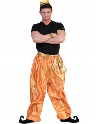 Pantalone dorato da ballerino per uomo