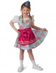 Costume da bavarese a fiori per bambina