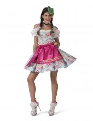 Costume bavarese con fiori per donna