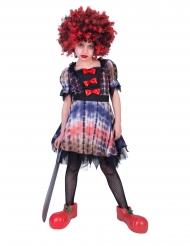 Costume da clown pauroso  per bambina
