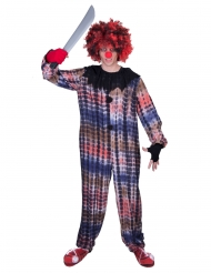 Costume da clown sanguinario per uomo