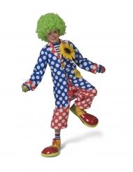 Giacca da clown con punti  bianchi per bambino