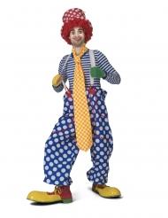 Cravatta da clown super lunga a quadri adulto