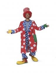 Costume giaccone a pois da clown uomo