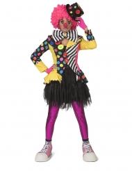 Costume giacca multicolore da clown per donna