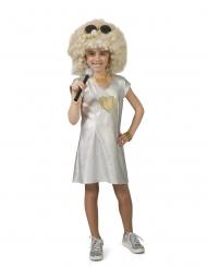 Costume argento da disco per bambina