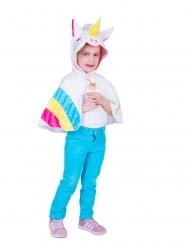 Poncho con cappuccio da unicorno arcobaleno bambina
