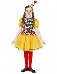 Costume da clown colorato per bambino