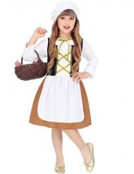 Costume da popolana del medioevo per bambina