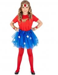 Costume da supereroina dei fumetti per bambina