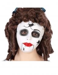 Maschera da bambola spaccata per adulto