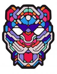 Maschera da leopardo con LED per adulto