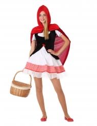 Costume di cappuccetto rosso per adolescente